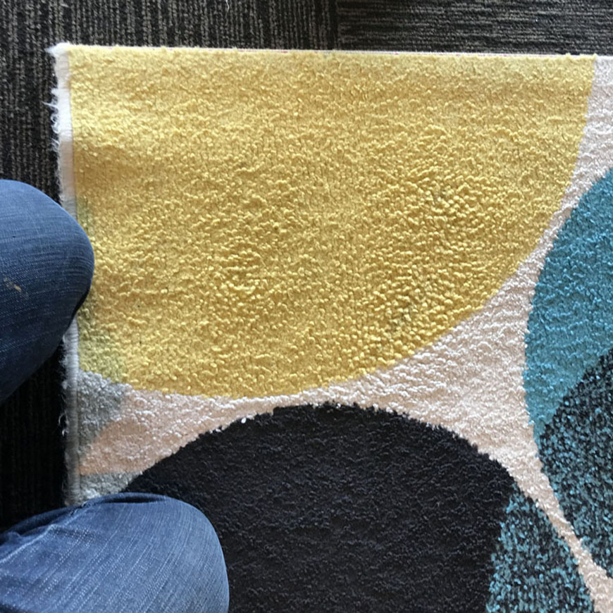 tar stain removed from rug
